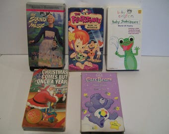 5 different vhs kids movies