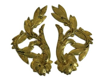 Antique Ormolu Furniture Molding. French Bronze Ornament. France Home Decor.