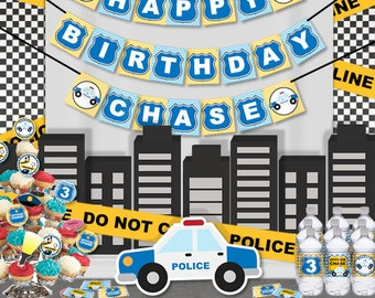 Police Birthday Party Printable  Wall Banner - Police Party Decorations Supplies