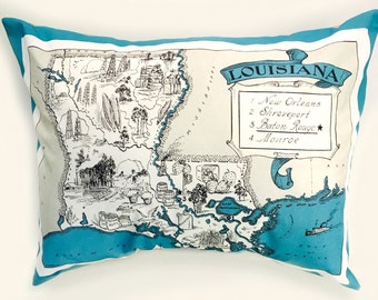 Louisiana State Pillow Cover with Insert