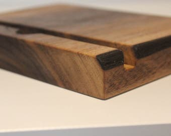 Handcrafted Tablet/IPad/Phone Stand Oak and Walnut, large and small available