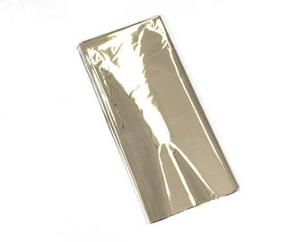 Silver Metallic Foil Wrap - Craft and Party Supplies