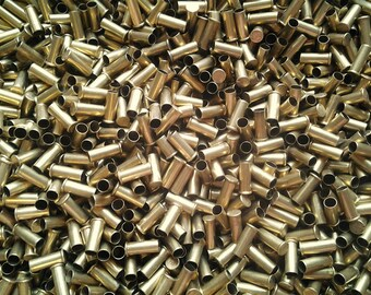 500 CASINGS WHOLESALE! Brass Bullet Casings .22 Caliber Empty Spent Ammo Shells. Makes Cute Steampunk Jewelry, Earrings, Pendants