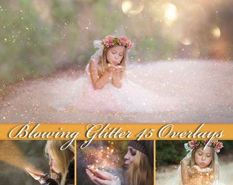45 Blowing Glitter Photoshop Overlays Blowing Glitter Overlays Glitter Clipart Glitter Photo Overlays Blowing Glitter Overlays