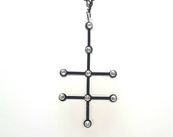 Vodka molecule necklace pendant