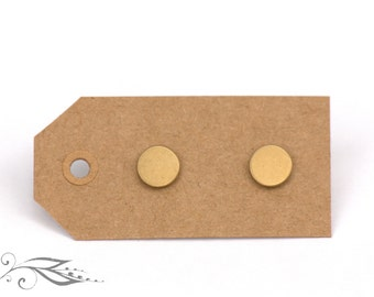 Mini circles - hand-soldered earrings 8 mm made of brass and stainless steel