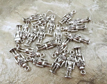 Twenty (20) Pewter Nutcracker King Charms - 0085
