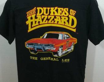 The DUKES of HAZZARD General Lee t-shirt. Small black shirt