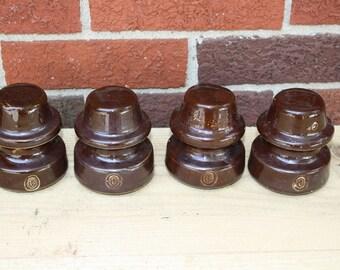 Porcelain Insulators - set of 4 - Ohio Brass
