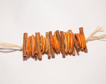 Dried Orange Slices and Cinnamon Garland