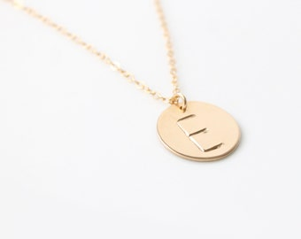 Large Initial Charm Necklace /Custom Necklace / Gold Initial Necklace / Personalized Jewelry / Long Layers / Gift Idea / 14k Gold Filled