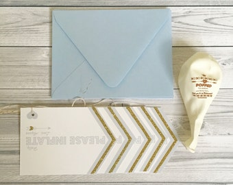 Will You Be My Bridesmaid Gift Card Gold Balloons in your choice of color