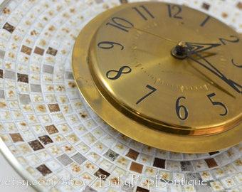 Mid Century Tile Mosaic Clock General Electric Modern Rare