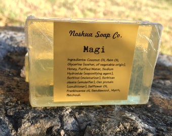 Natural Frankincense and Myrrh soap