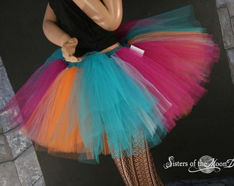 Tropical Paradise tutu skirt Extra puffy adult costume halloween dance roller derby 80s --  You Choose Size -- Sisters of the Moon