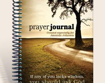 Personalized Gift / Prayer Journal - Wisdom Tree - James 1:5