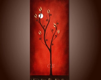 Red World- Abstract Landscape Art Print. Free Shipping inside US.