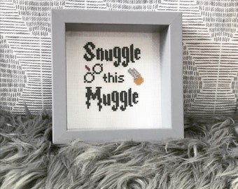 Baby Harry Potter cross stitch portrait