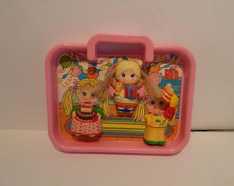 Vintage Dolly Pop Playset Birthday Time With 1 Doll Accessories Playset only Knickerbocker 1970s