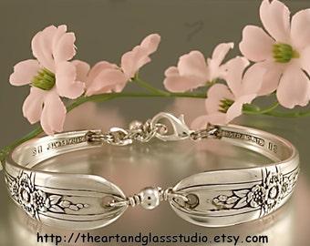 Silver Spoon Bracelet TRIUMPH 1941 Jewelry Vintage, Silverware, Gift, Anniversary, Wedding, Birthday