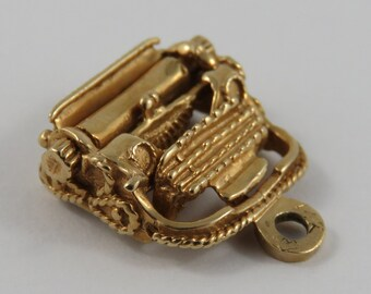 Typewriter 14K Gold Vintage Charm For Bracelet
