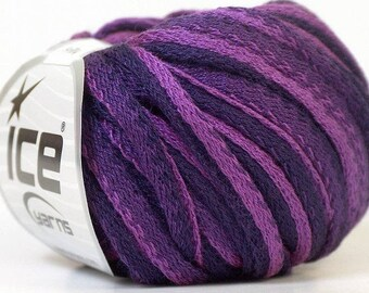 ICE frilly purple and Burgundy color yarn