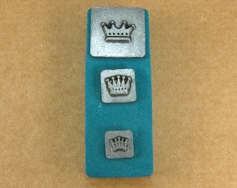 Crowns Ornamental Stamps by Melody Ross / Set of 3 / Use On Chipboard And Leather