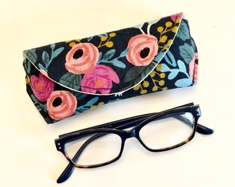 Reading Eyeglass Case - Magnetic - Gifts for Her - Gifts for women - Gifts under 15 - rifle paper co - floral