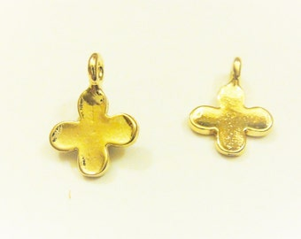Vermeil, 18k gold over 925 sterling silver small cross, shiny gold  cross, cross, vermeil cross, gold small cross