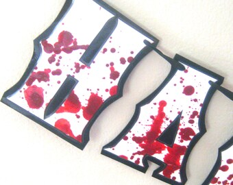 Zombie Party Decor, Zombie Birthday Banner, The Walking Dead Birthday Decor, Zombie Birthday Party, Zombie Party Supplies, Giant