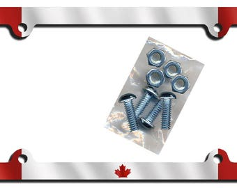 Canadian Flag Auto License Plate Frame Gifts Girls Ladies Men Plate Holder Flags Canada Flag Car Accessories