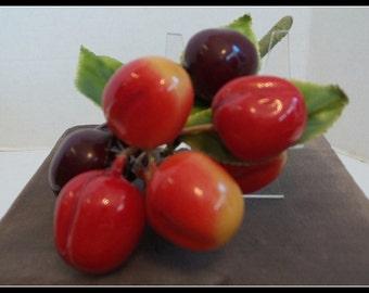 Brooch 1950s Cherries