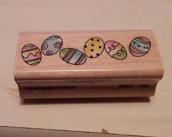 Retired Rubber Stamp    -     Easter Egg Border