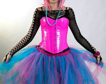 Adult tutu skirt turquoise pink costume halloween dance bridal wedding prom club  -- You Choose Size -- Sisters of the Moon