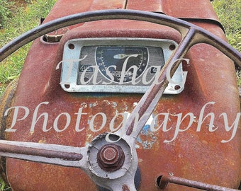 Farm Vintage Tractor Photography Canvas