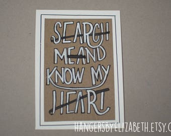 Handmade Scripture-Inspired Framable Art (5x7in)