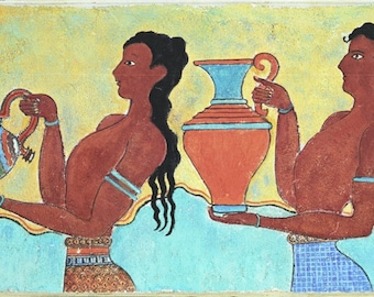 Minoan Portable frescoes, Greek Minoan cooles.