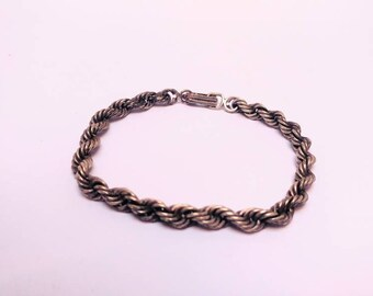 Vintage bold silver bracelet