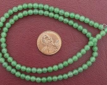 4mm round gemstone green aventurine beads