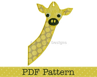Baby Giraffe Applique Template, Animal, DIY, Children, PDF Pattern by Angel Lea Designs