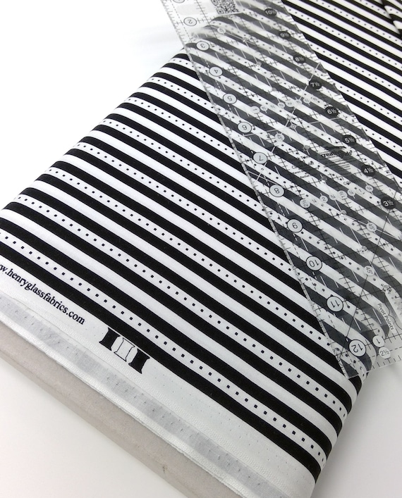 """Black and White Stripes With Dots On White Background From Fab """"Friend"""" ZY by Tickled Pink, Barbara Jones, Quilt Fabric By The Yard 6489 99"""