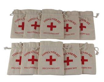 20pcs Hangover Kit Bags Bachelorette Party Supplies 10*14cm Cotton Gift First Aid Wedding Favor Holder Bag Event Party Supplies