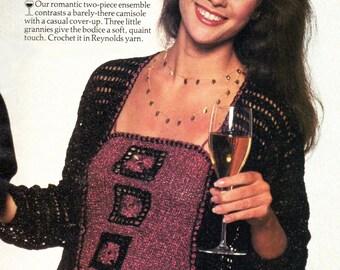 Crochet Patterns, Womens Crochet Jacket Pattern & Crochet Camisole Pattern, INSTANT Download Pattern PDF (1108)