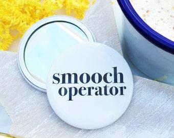 Smooch Pocket Mirror - Fun pocket mirror - Pocket Mirror - stocking filler - Compact Mirror - Handbag mirror - secret santa - make up mirror