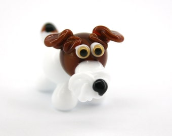 Fox terrier  Lampwork Dog Bead