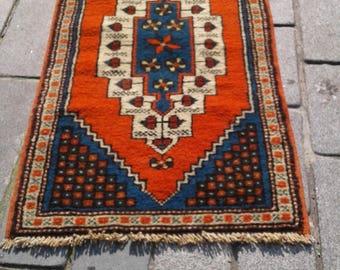 OUSHAK  RUG, 61 X 116 Cm Turkish Rug,