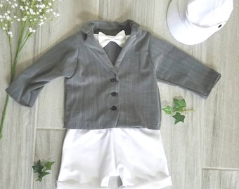 Boys Suit, Ring Bearer Suit, Easter Suit, Baptism Suit Christening, White Outfit, Suit Jacket and Pants, Boy Suit, Ring Bearer Outfit