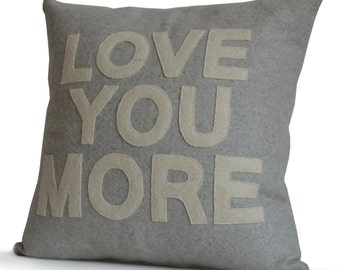 Love You More Quote Pillows, Couple Gifts, Custom Message Pillows, Gifts For Dad, Anniversary Gifts, Birthday Gifts, Multiple Color Size