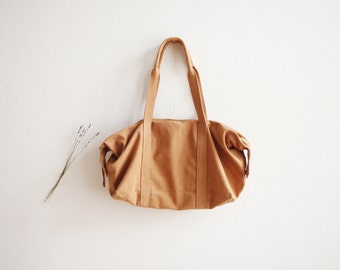 finest nubuck leather bag. Sand. ...weekend or travel bag... gift for her