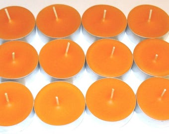 Cinnamon/Orange/Clove Scented Soy Tealight Candles